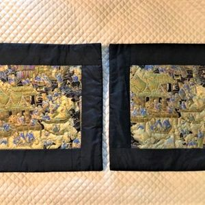 Other - 2 New Decorative Silk Pillowcases Made in Thailand